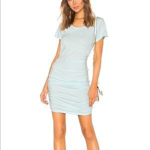 Bobi Draped Jersey Ruched Dress